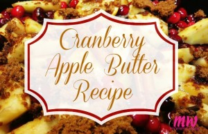Cranberry Apple Butter Recipe