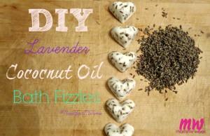DIY Lavender Coconut Oil Bath Fizzles #NewYearMeTime
