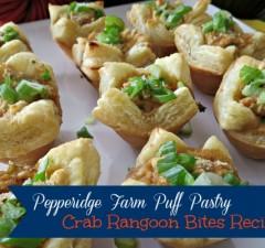 Pepperidge Farm Puff Pastry Crab Rangoon Bites Recipe