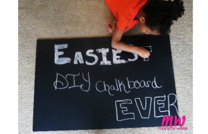 Easiest DIY Chalkboard Ever