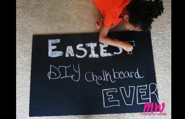 Easiest DIY Chalkboard Ever