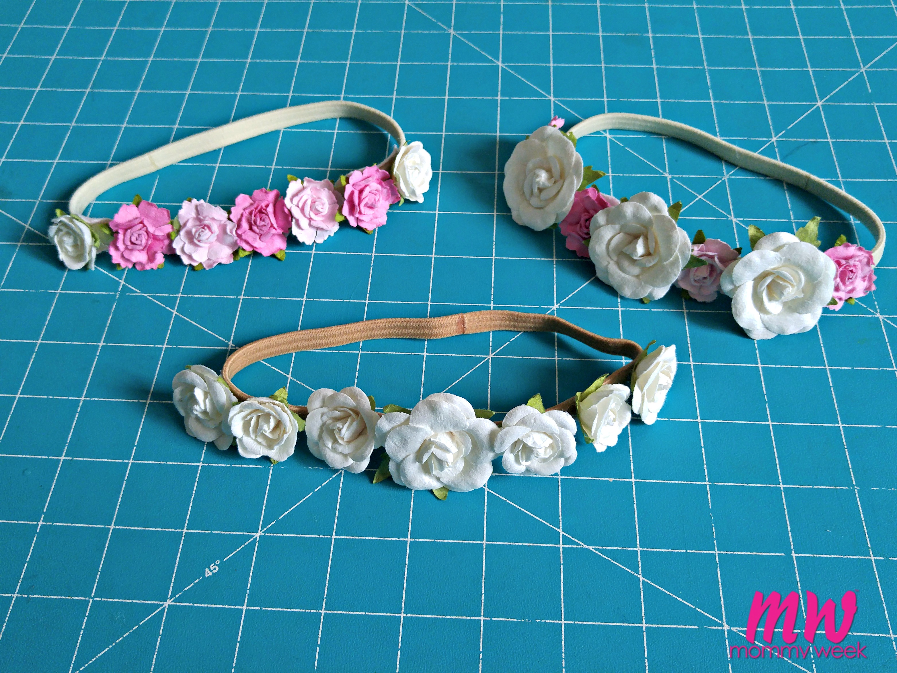 Diy flower crown headband mommy week diy flower crown headband izmirmasajfo