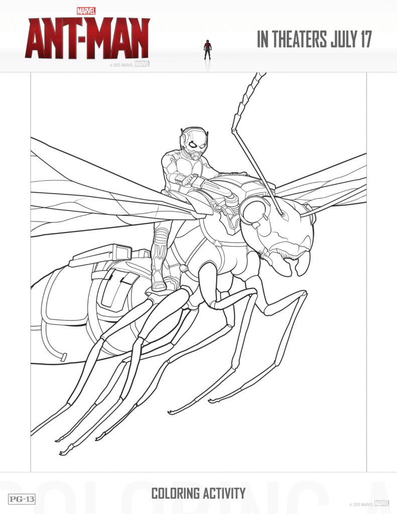 ANT MAN Activity Pack