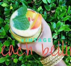 Vintage Peach Bellini Mocktail