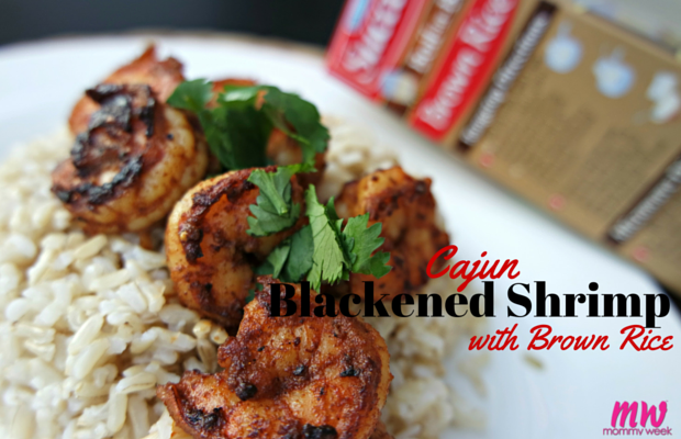 Cajun Blackened Shrimp with Brown Rice